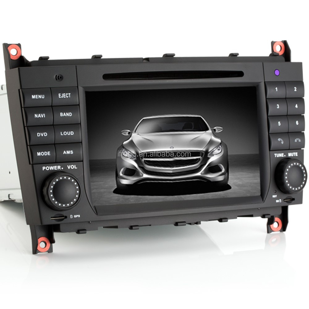 "7"" Double Bluetooth gps dvd Din Car Audio System for Mercedes W209 W203"