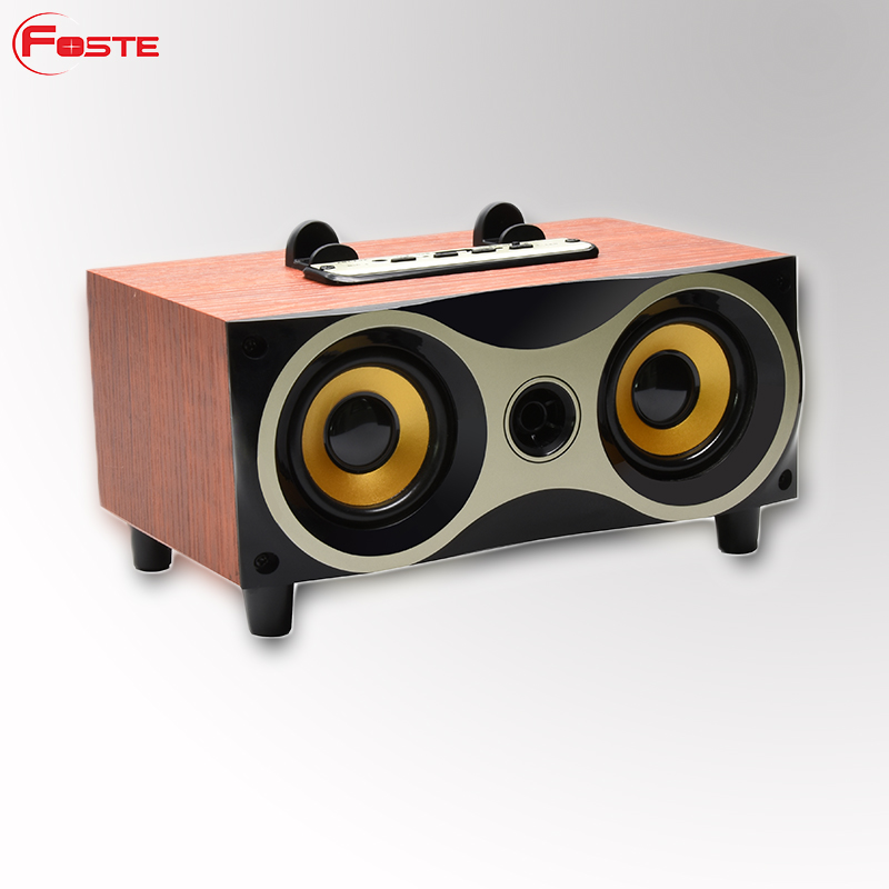 2018 New Arrival Wooden Model FT-XM6 Mini Bluetooth Speaker, Portable Wooden Speaker 20W Wireless Outdoor Radio Bluetooth#