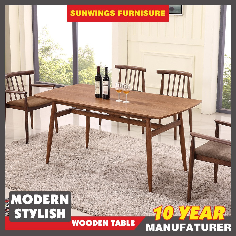 China top furniture factory 4 seater wood dining table