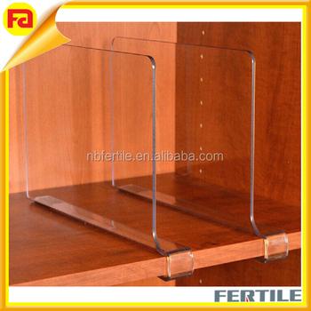 HZ 432112 3 ClosetMate Beautiful Acrylic Shelf Dividers, Closet Shelves,  Organizer Seperators Pack Of