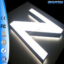 high quality outdoor advertising front light 3d acrylic letters