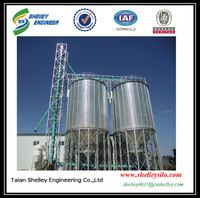 gravity feed binsbroad bean silo with steel cone