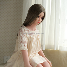 Hot sale 100cm hairy vagina flat chest silicone japanese loli customized sex doll with oral