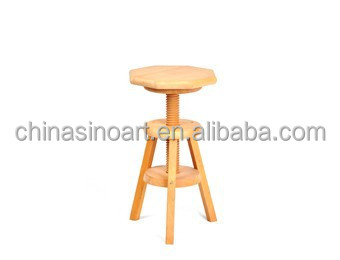 Hot Sell Adjustable Wooden Stool,Beech Wood
