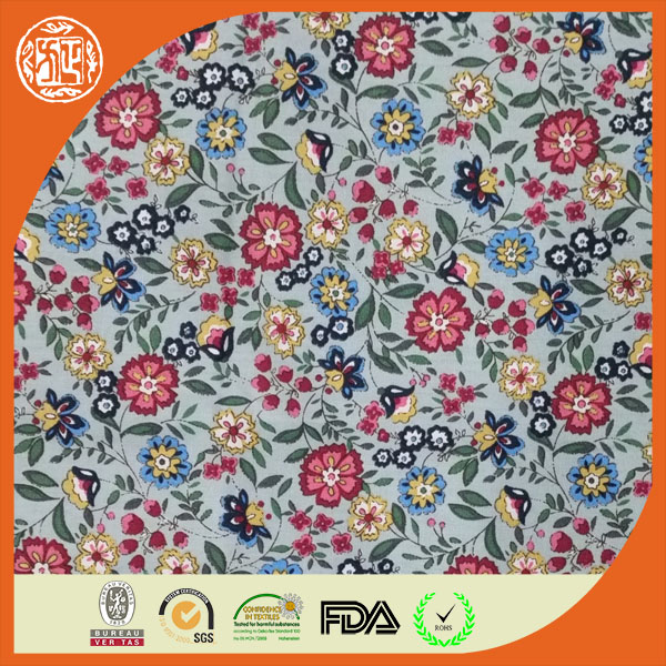 China Hot Sale ready goods printed 100 cotton poplin fabric