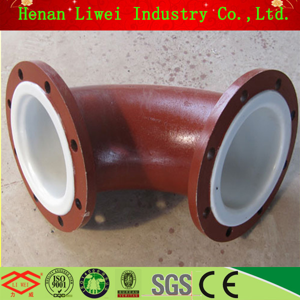 PN16 Carbon Steel Plastic PTFE Lined Coated Steel Pipe Fittings