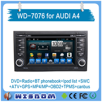 For AUDI A4 car dvd gps android 7 inch HD display multimedia Video car gps navigator with radio TV bluetooth wifi 3g mp3