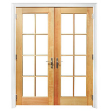 Good quality wooden mosquito net door design customized