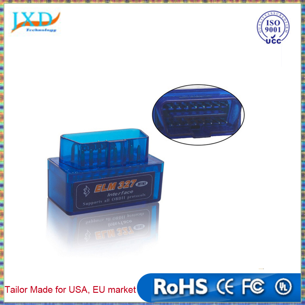 Super Mini ELM327 Bluetooth Interface V2.1 OBD2 II Auto Diagnostic Tool ELM 327 Work ON Android Torque/PC