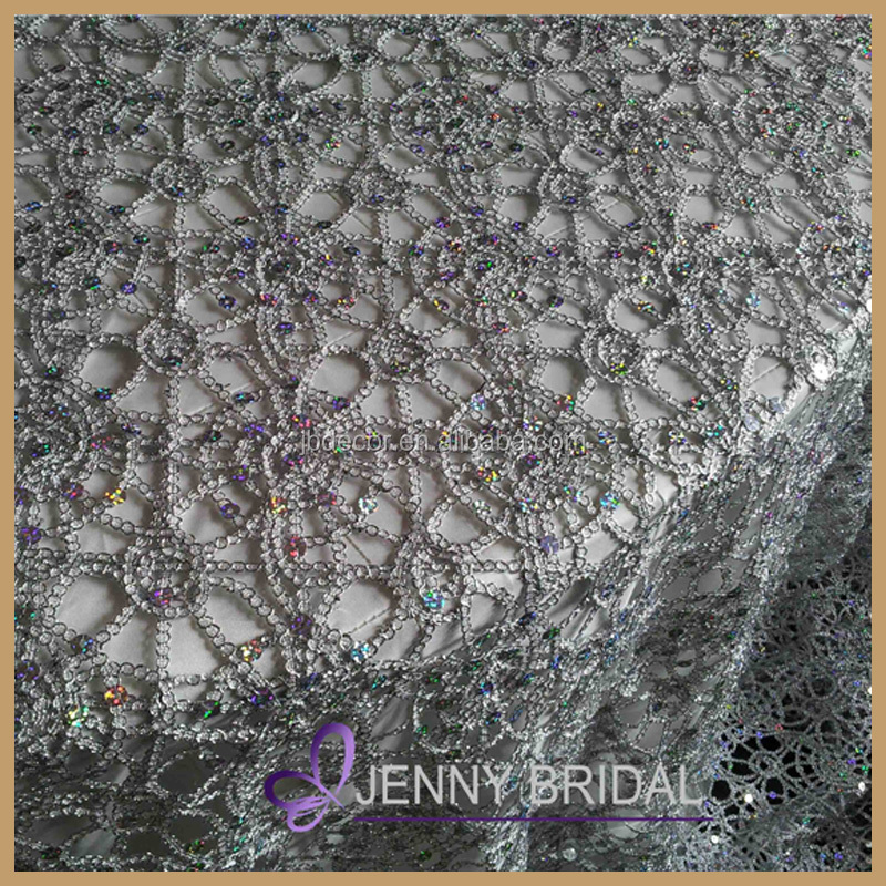 tl001j2 1 cheap wholesale lace tablecloths chemical lace sequin table cloth silver overlay. Black Bedroom Furniture Sets. Home Design Ideas