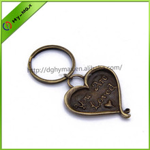Customized Sweet heart shaped keychain