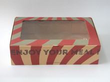 Recyclable food paper kraft box with window