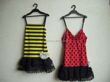 Factory OEM Offer Cosplay costume BEE wearing for children sexy dress