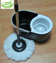 PP/stainless steel basket microfiber spin magic mop