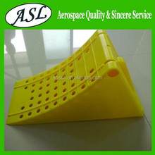 Good quality car truck tyre stopping plastic material wheel chock