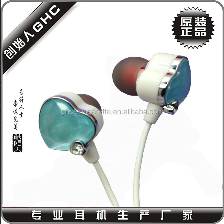 Plastic crystal earphone for girls , crystal earbuds for women, women crystal headphones at factory price
