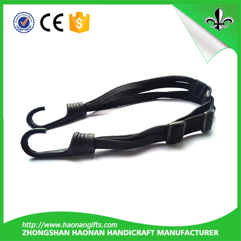 Strong elastic flat polyester bungee cord for sale