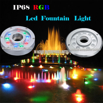 High quality DMX control full color change led pool / garden / fountain light