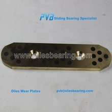 bronze headed guide plates for hydraulic presses machine, Aluminium Bronze plate, Cart sliding wear pad