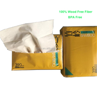 Hot Sale Unbleached Bamboo Pulp Facial Tissue from China Wholesaler