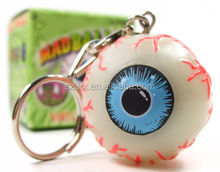 new design big one eye 3d plastic Keychain/ customized 3d PVC keychain China manufacturer