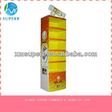 4c printing cardboard display with 5 layer,promotional display,advertising display
