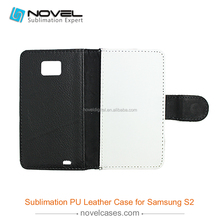 High Quality Sublimation PU Leather Phone Case For Galaxy S2