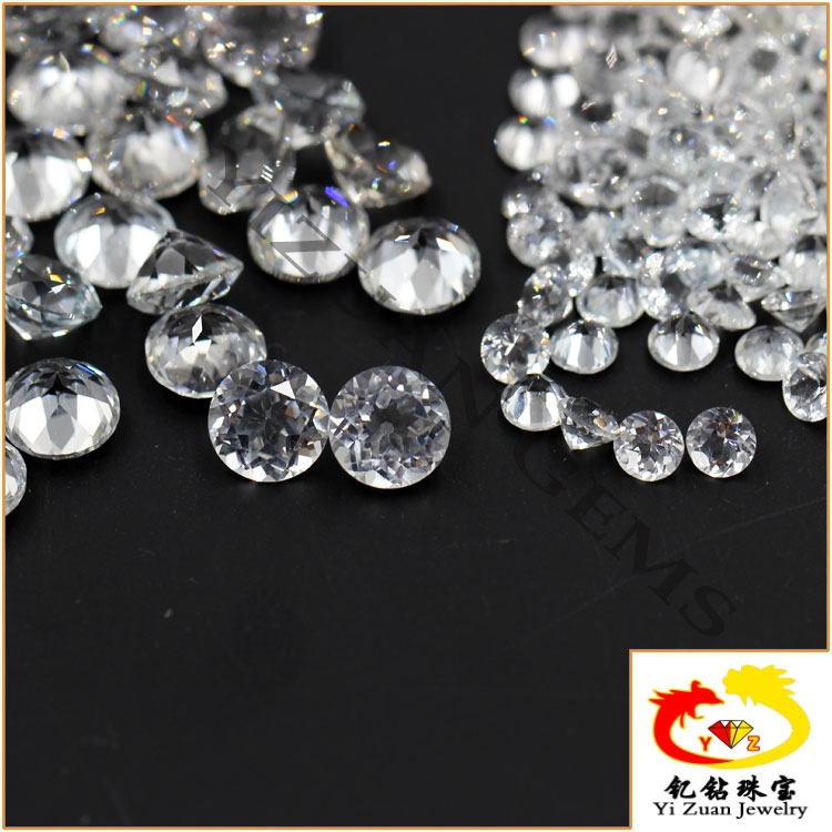 Factory direct price white topaz gem round cut made of natural rough stones