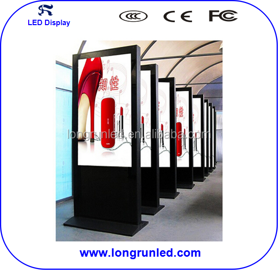 wifi network floor standing led advertising player