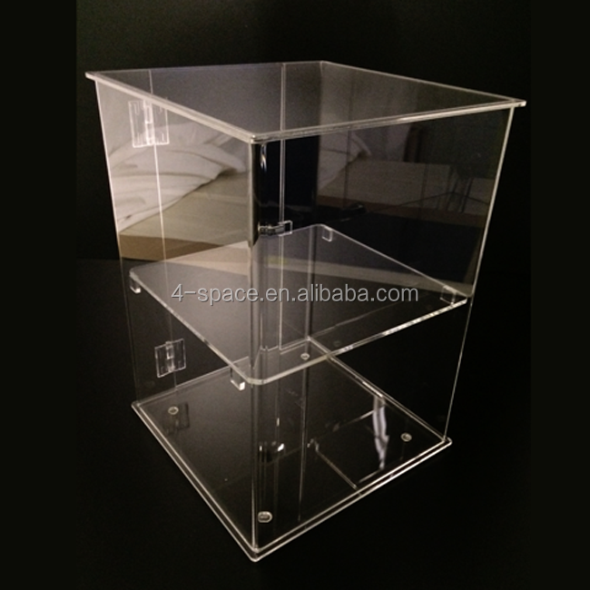 Clear Acrylic jewelry display case with hinged locked door