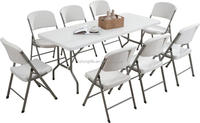 6ft rectangle solid top folding table