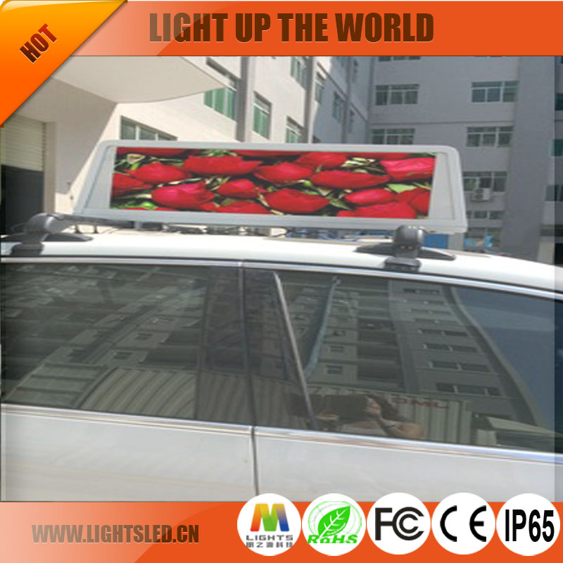 ip65 waterproof led display message advertising mini size p5 led screen outdoor 3g/gps/wiifi control display led taxi top