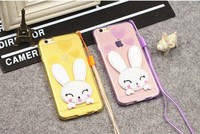 case phone cover lovely clear TPU rabbit ears case for iphone 7 6