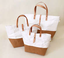 tyvek and washable kraft paper tote bag large medium and small