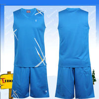 BKB-002-5 digital print basketball jersey color blue