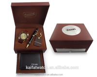 2015 new promotional corporate business men watch set gift