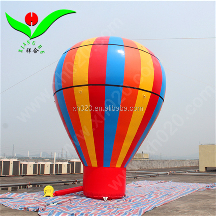 Giant printing logo for advertising,inflatable hot air shaped balloon ground balloon for sale