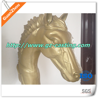 Low cost good quanlity aluminum art and craft casting customized and OEM horse head statue from Guanzhou Casting Foundry