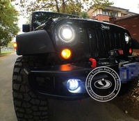 led head lamp auto led 12v fog lights lumen led lamp driving light for jeep wrangler