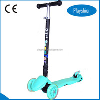 Foldable Light Up Wheels Kids Scooter with T Bar Kids Scooter