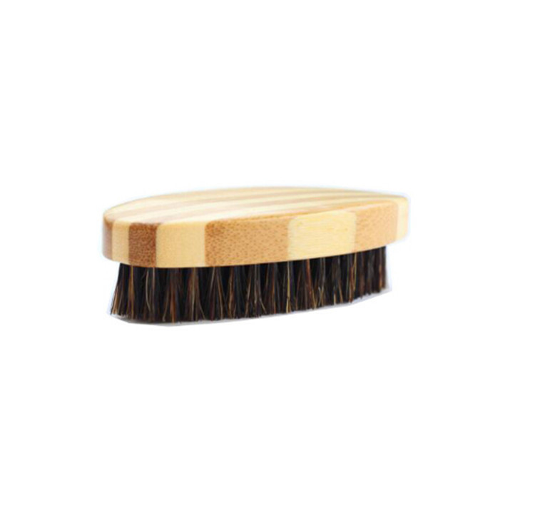 wholesale natural customized logo beard bamboo brush