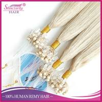 2017 new blonde brazilian hair color ash blonde double loop extemsions micro beads micro loop ring link human hair extenisons