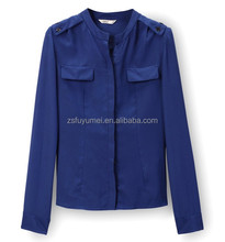 2014 Korean style lady's shirts/blouse design ,women formal shirts designs ,model long sleeve