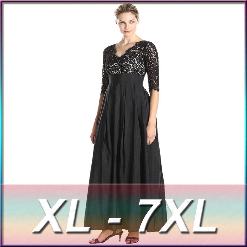Evening Dresses For Fat Ladies Vestidos De Fiesta Long Sleeve Lace ...