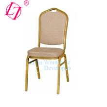 Fabric Crown Dining Chair Cosmetology Chair Metal Chair