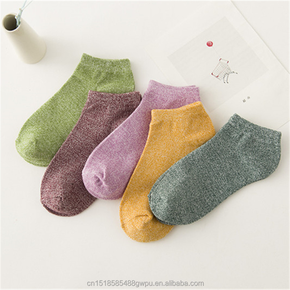 Classic Colorful Sublimation Cotton Ankle Socks
