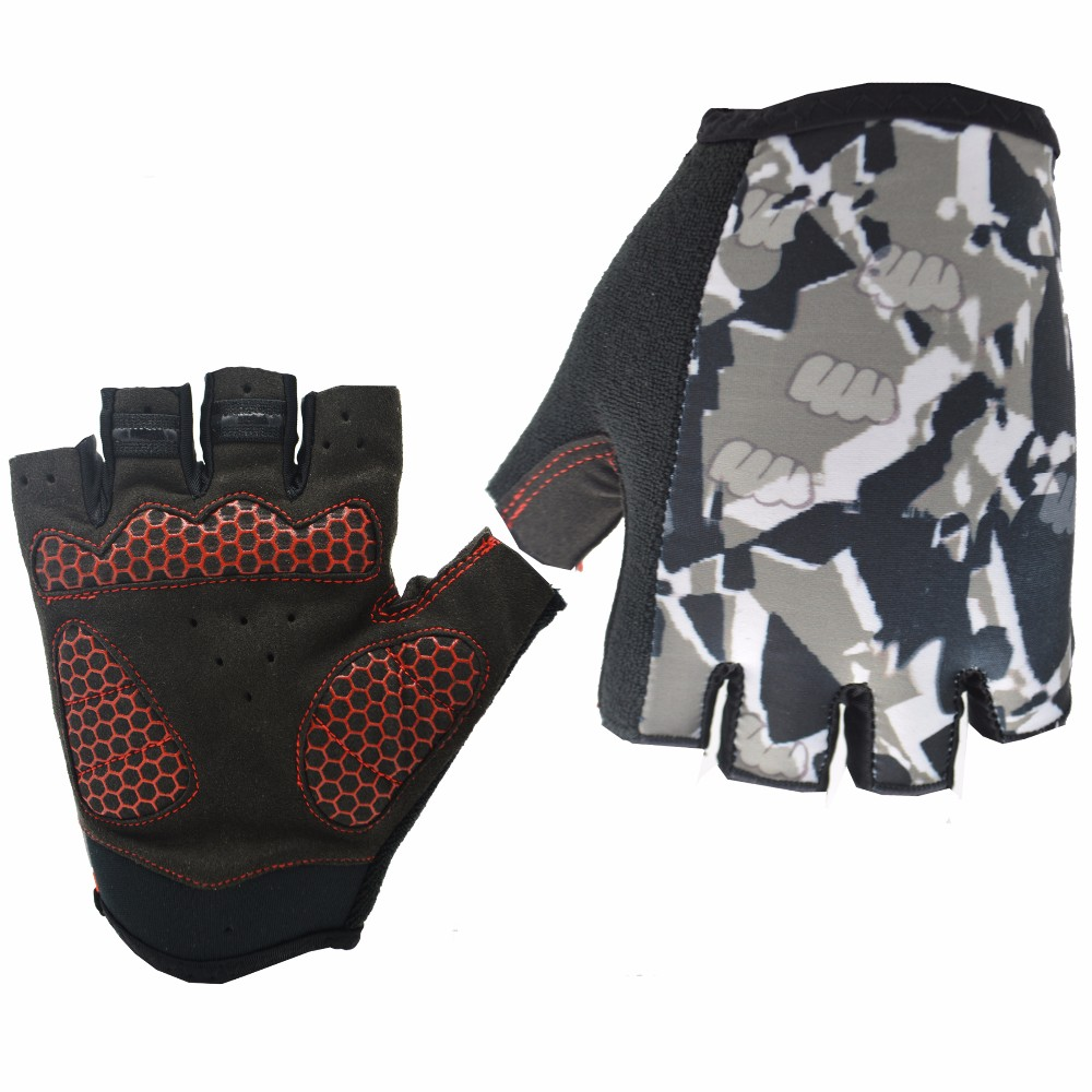 Breathable Lycra <strong>Shock</strong>-proof Gel Padding Half finger Bike Gloves