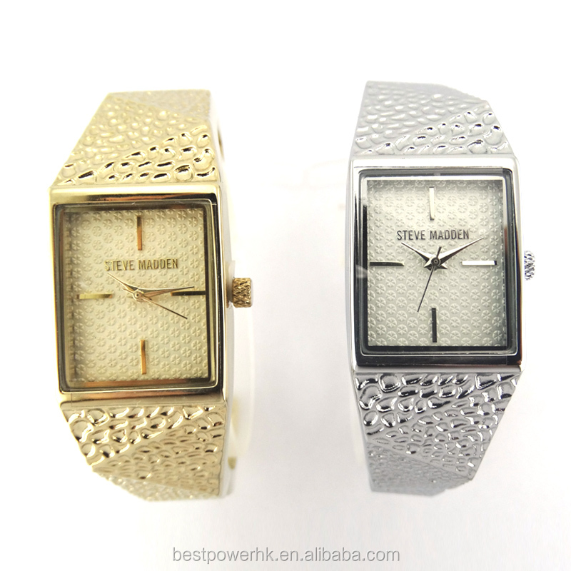 Fashion ladies gold bracelet watch no chronography hot wholesale bling bling delicate popular stylish bangle watch