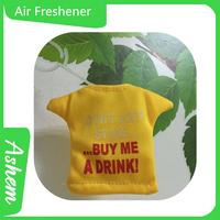 Gifts promotion cloth car freshener cloth air freshener with logo printing, M-985