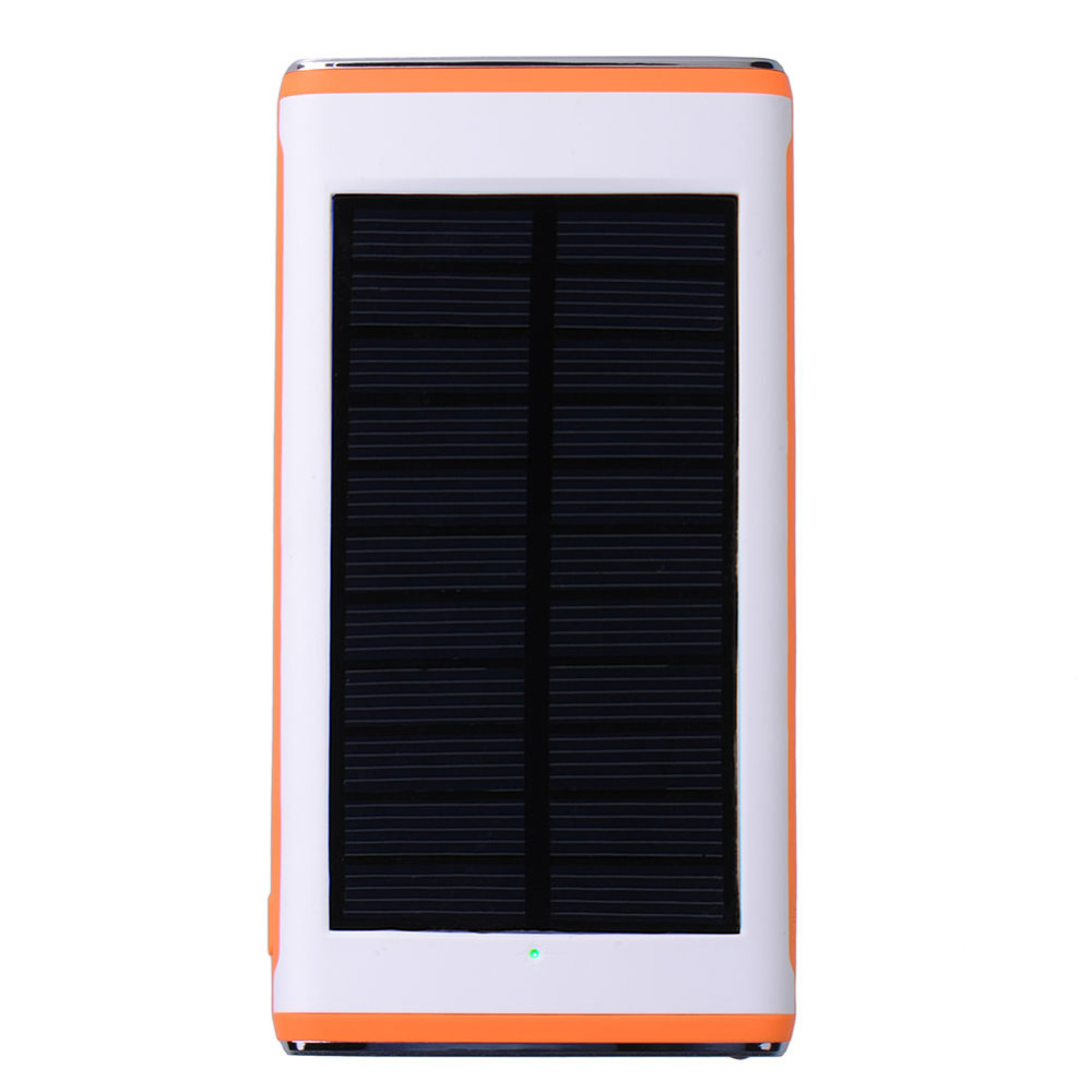 8000mAh with Flashlight Fast Charging Portable Solar Charger Panel Power Bank External Battery Pack